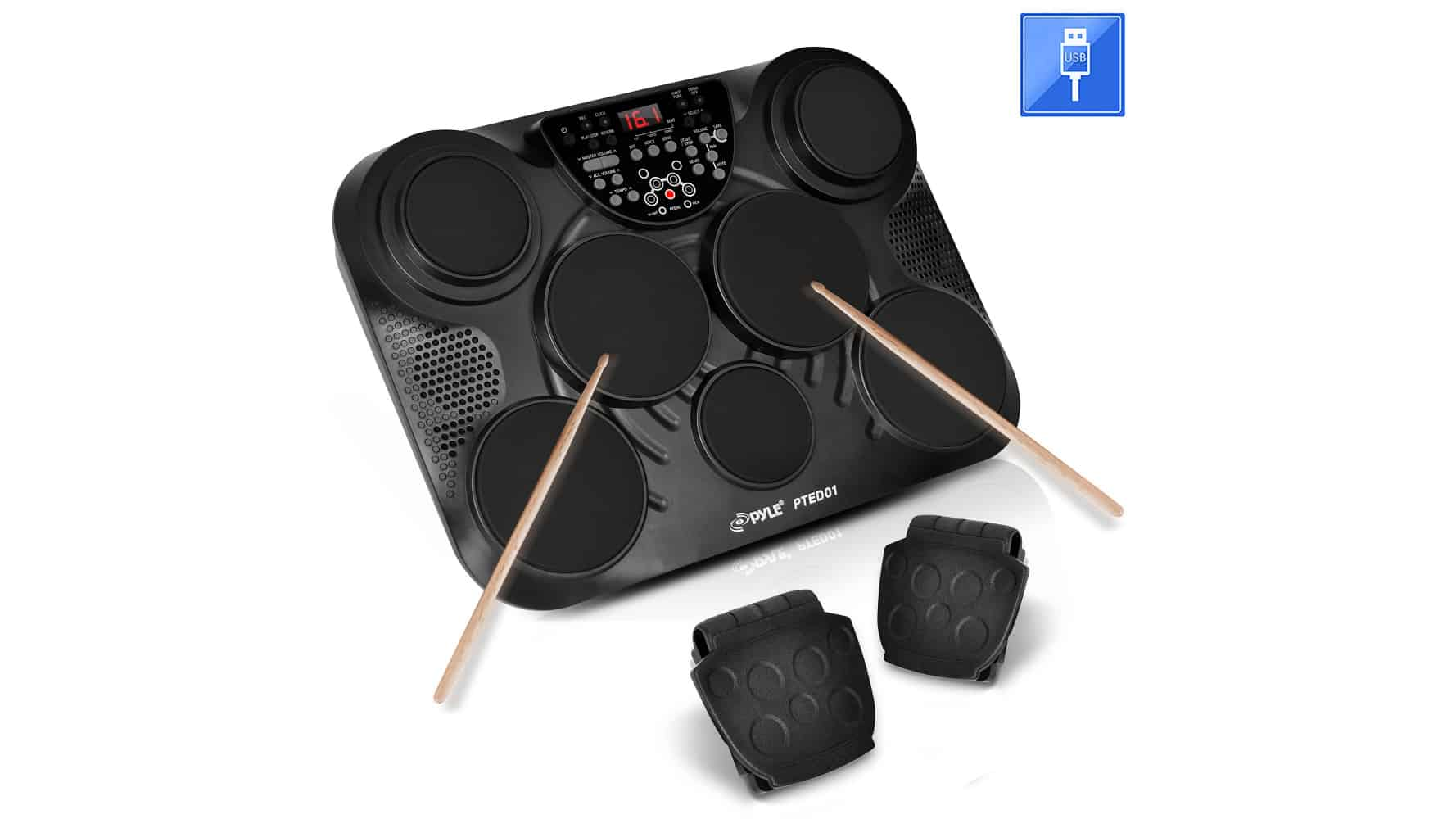 PylePro PTED01 Portable Drums, Tabletop Drum Set